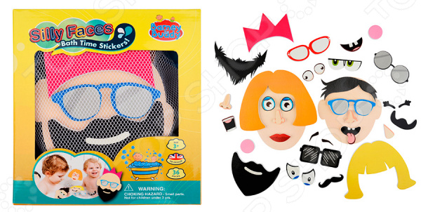 цена на Набор фигурок-стикеров для ванны Barney&Buddy «Смешные лица»