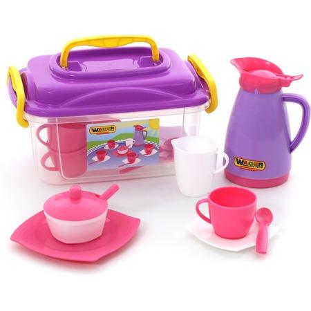 Купить Набор посуды для кукол Wader «Алиса» 53480