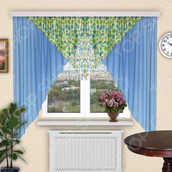 Штора легкая Синель «Уголок» 142/2 штора легкая правосторонняя синель акцент 122