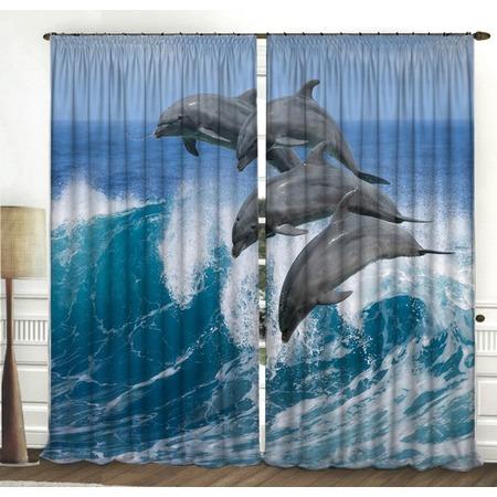 Купить Фотошторы ТамиТекс «Добрые дельфины»