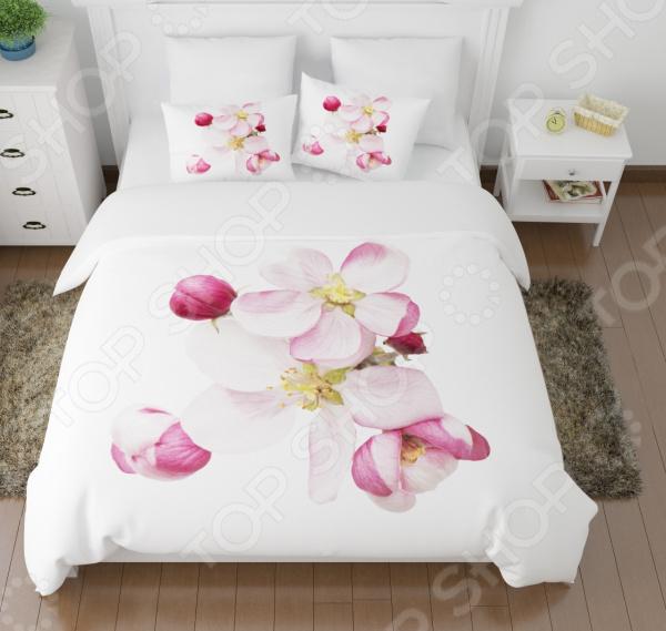Комплект постельного белья Сирень «Распустившиеся цветы». 1,5-спальный