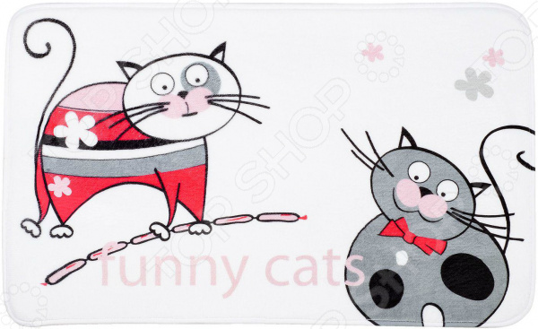 Коврик для ванной Tatkraft Funny Cats tatkraft mega lock