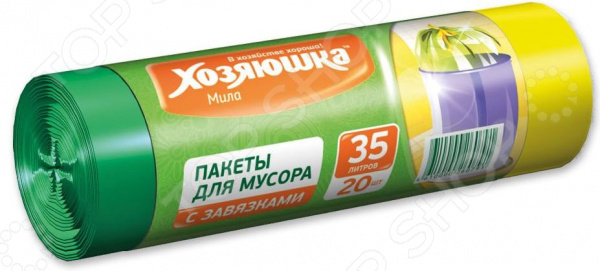 Пакеты для мусора Хозяюшка «Мила» 07005 пакеты д мусора премиум повышенной прочности 30л в пластах 20 шт 930984