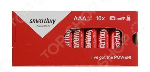 Набор батареек щелочных SmartBuy LR03/10 Box набор батареек щелочных airline ag12 lr43