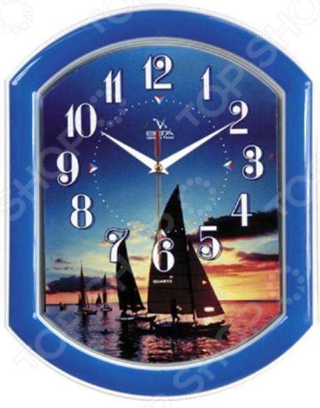 Часы настенные Вега П 2-10/7-14 «Морской закат» часы настенные вега п 4 14 7 86 новогодние подарки