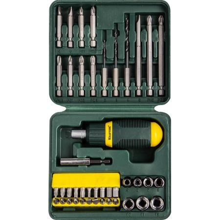 Купить Отвертка реверсивная с битами и торцевыми головками Kraftool 25556-H43