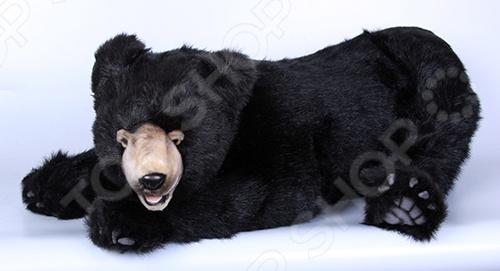 Мягкая игрушка Hansa «Медвежонок лежащий» мягкая игрушка медведь hansa 4982 искусственный мех черный 90 см лежащий