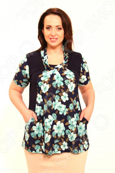 Блуза Матекс «Персиковая сладость». Цвет: зеленый