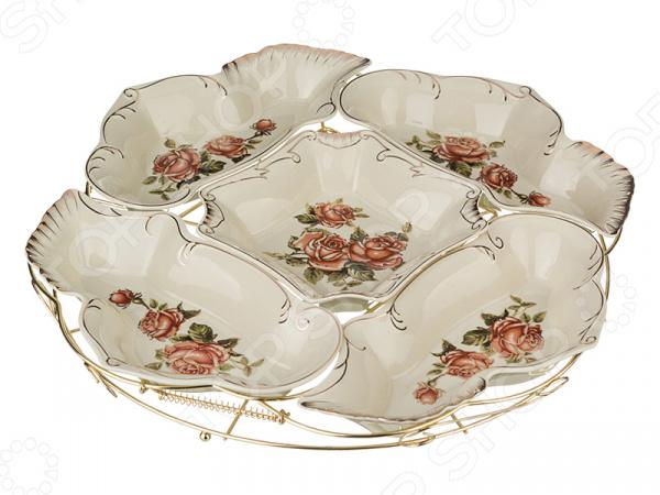 Менажница Lefard «Корейская роза» 388-097 менажница porcelain manufacturing factory 388 097