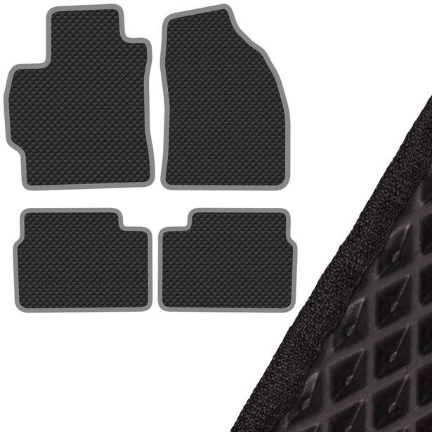 Комплект из 4-х ковриков в салон автомобиля с левым рулем SKYWAY Toyota Corolla (2006-2013)