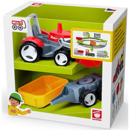 Купить Машинка игровая EFKO «Трактор с дополнительным прицепом»