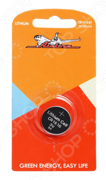 Батарейка для брелоков и сигнализаций литиевая Airline CR1616 элемент питания airline cr2032 01