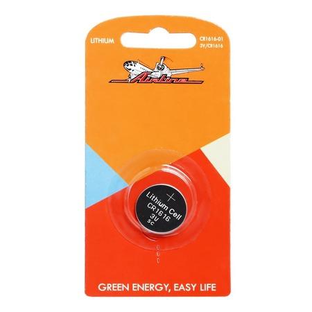 Батарейка для брелоков и сигнализаций литиевая Airline CR1616