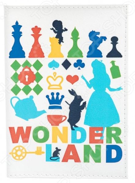 Обложка для паспорта кожаная Mitya Veselkov «Wonder Land»