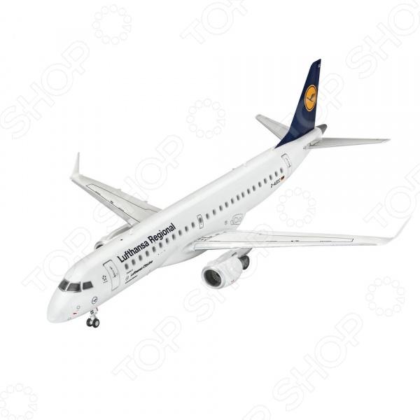 Сборная модель гражданского самолета Revell Embraer 190 авиакомпании Lufthansa