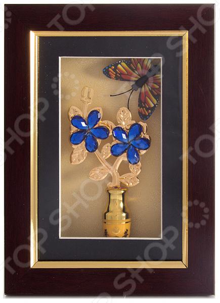 Композиция настенная «Незабудки с бабочкой» - артикул: 941046