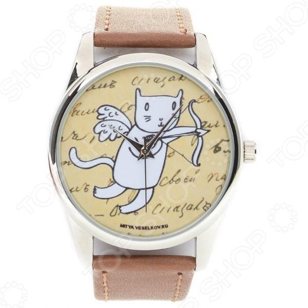Часы наручные Mitya Veselkov «Кот-амур с луком» Color