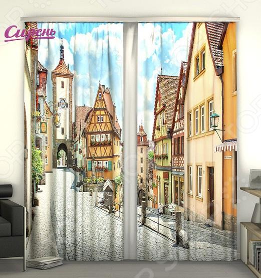 Фотошторы Сирень «Улица в Германии» купить автомобиль мерседес в германии
