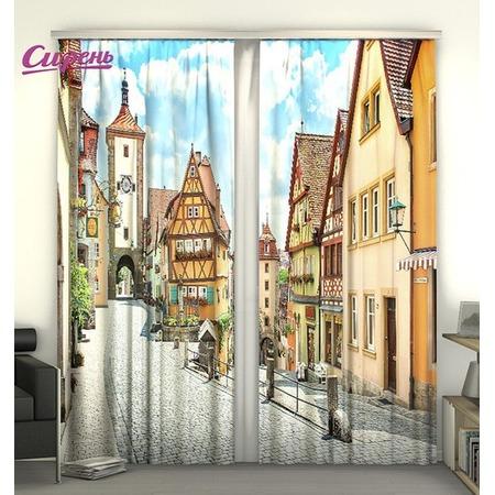 Купить Фотошторы Сирень «Улица в Германии»