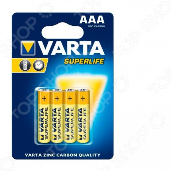 Элемент питания VARTA Superlife AAA бл 4 элемент питания varta v 390 бл 1