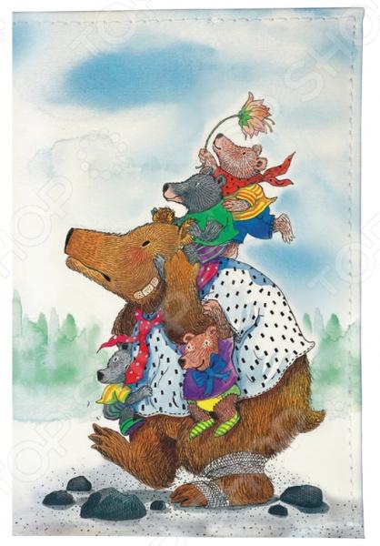 Обложка для автодокументов Mitya Veselkov «Медведица с медвежатами» цена