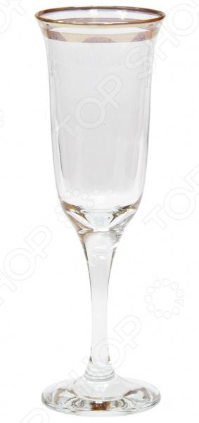 Набор бокалов для шампанского Гусь Хрустальный «Юнона. Каскад» набор бокалов для бренди гусь хрустальный эдем каскад