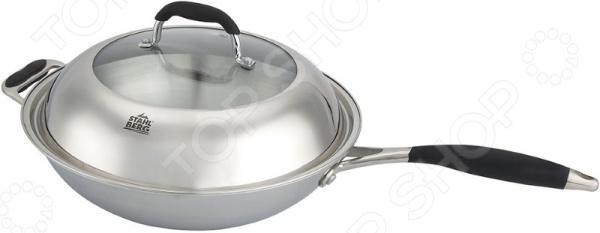 Сковорода вок с крышкой Stahlberg LORETTA 1807-S сковорода вок d 32 см с крышкой stahlberg loretta 1807 s