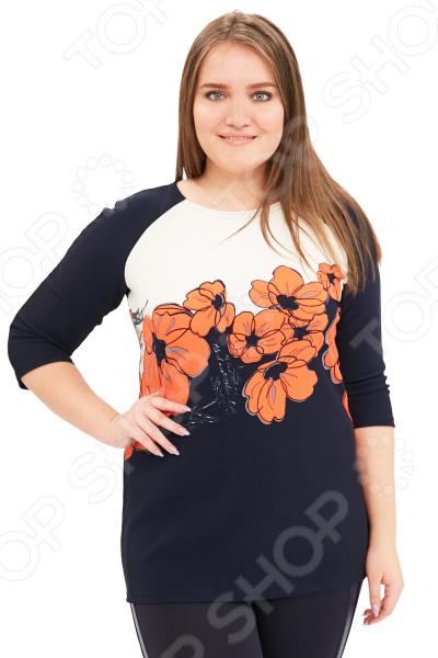 Блуза Лауме-Лайн «Цветы для любимой». Цвет: коралловый блуза лауме лайн перелетная птица цвет бордовый