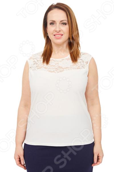 цена Блуза Элеганс «Маркиза». Цвет: молочный онлайн в 2017 году