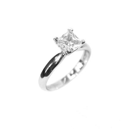 Купить Серебряное кольцо с фианитом Andreana «Принцесса»