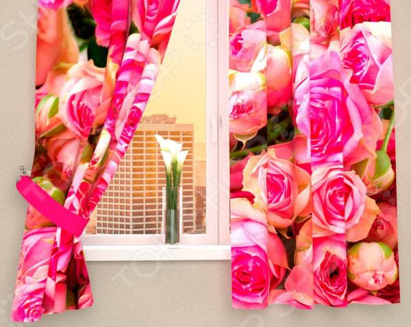 Фотошторы Сирень «Россыпь роз»