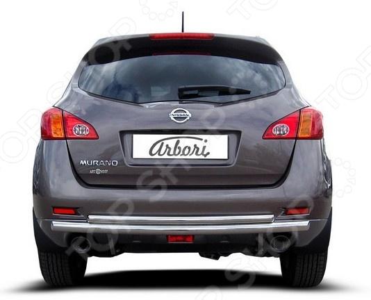 Защита заднего бампера Arbori двойная для Nissan Murano, 2011 2qty задний багажник потрясений распорки для nissan 350z 2004 2007 кабриолет только