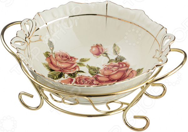 Салатник на подставке Lefard «Корейская роза» 126-526 полотенце для кухни арти м корейская роза