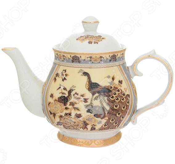 Чайник заварочный Elan Gallery «Павлин на бежевом»