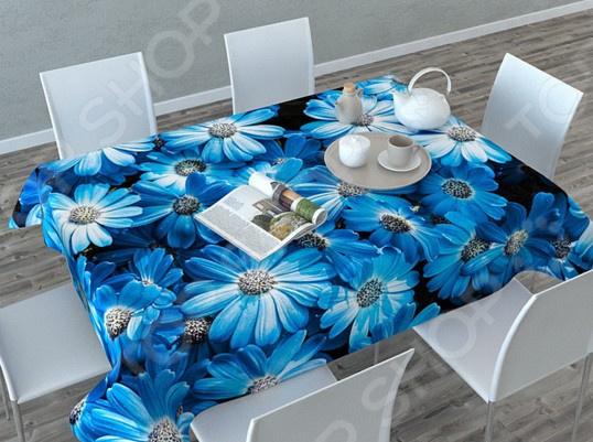 Фотоскатерть Сирень «Букет из голубых цветов»