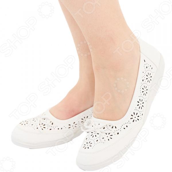 Туфли АЛМИ «Адель». Цвет: белый