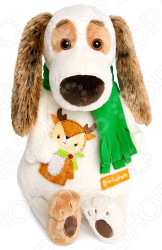 Мягкая игрушка BUDI BASA «Бартоломей в шарфе и с оленем»