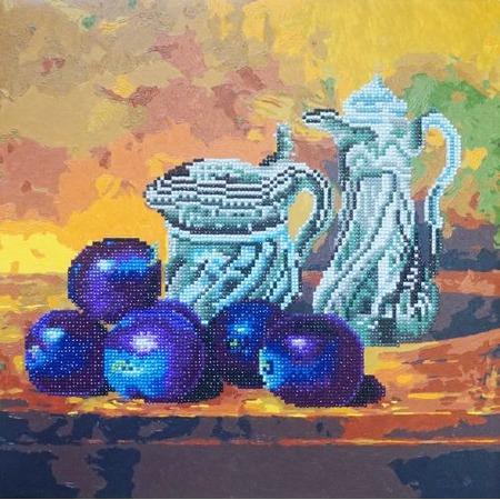 Купить Набор для творчества Color Kit «Алмазная мозаика». Рисунок: «Натюрморт со сливами»