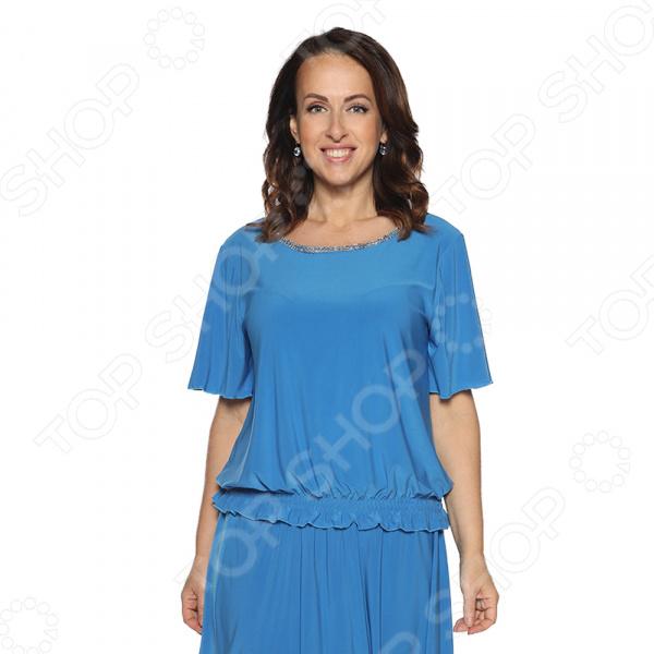 Блуза Pretty Woman «Лови момент». Цвет: голубой цена