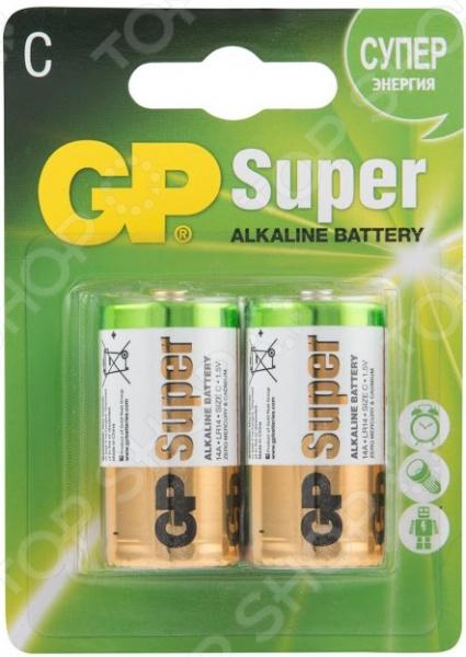 Набор батареек щелочных GP Batteries C/LR14 набор алкалиновых батареек gp batteries super alkaline тип аа 10 шт