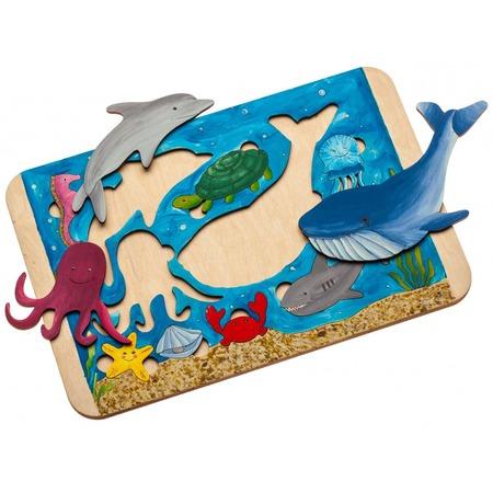 Купить Пазл деревянный Bradex «Морские жители»