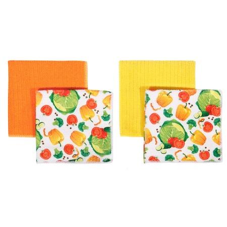 Купить Набор кухонных салфеток Dream Time KA-45-4294002. Цвет: желтый, оранжевый
