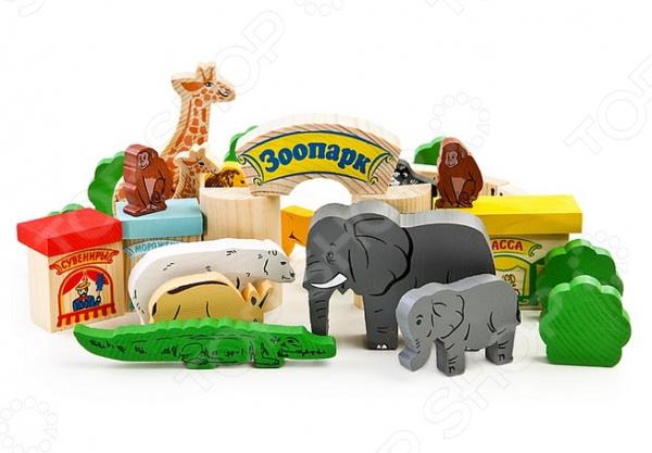 Конструктор для малышей Томик «Зоопарк» 22264 конструктор для малышей томик веселый городок