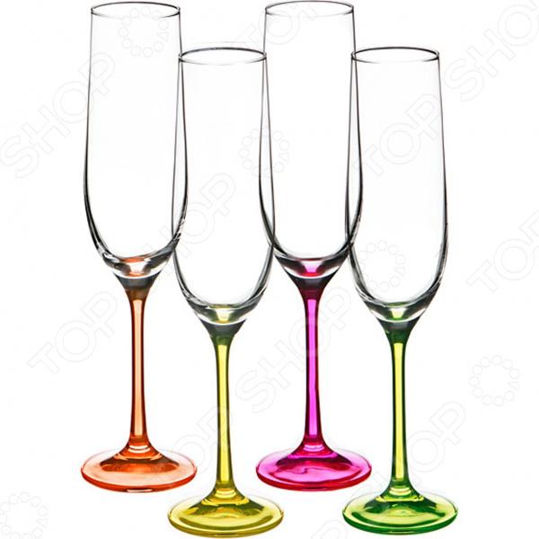 Набор бокалов для шампанского Bohemia Crystal Neon 674-296