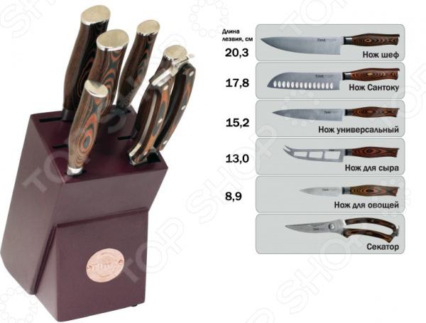 Набор ножей TimA Standart держатель для нарезки овощей libra plast