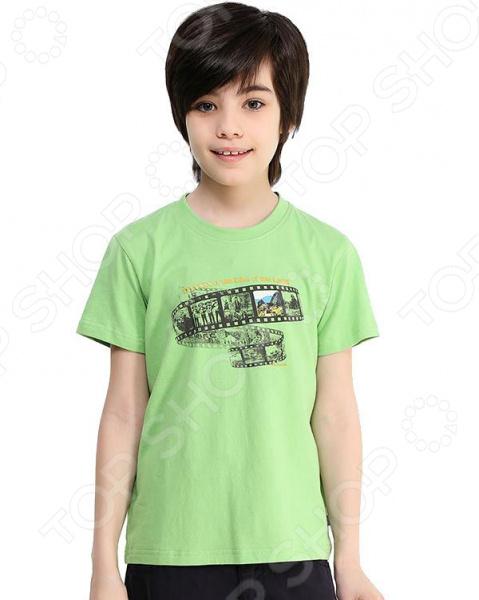 Футболка для мальчика Finn Flare Kids KB17-81029. Цвет: лаймовый