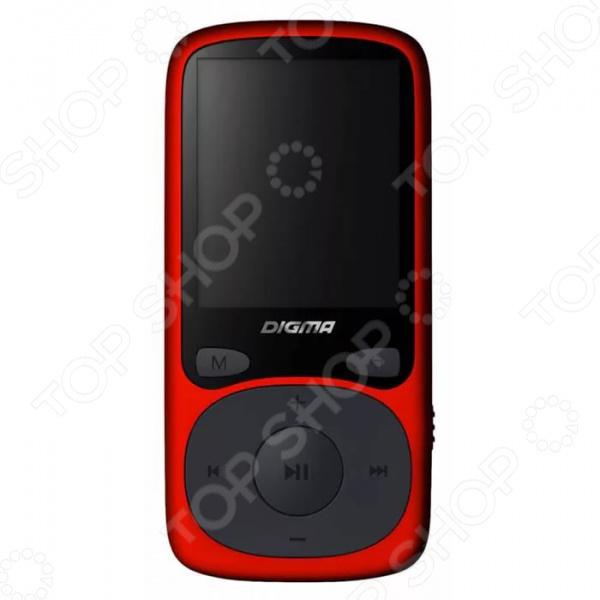 MP3-плеер Digma B3 устройство для тех, кто не представляет своей жизни без музыки. Теперь любимые мелодии всегда будут с вами, куда бы вы не отправились. Любителям музыки не нужно объяснять, чем MP3-плеер лучше мобильных телефонов.   Модель оборудована большим TFT экраном 1,8 дюймов, высокоскоростным интерфейсом USB 2.0 и встроенным микрофоном.  MP3-плеер оснащен встроенной литий-полимерной батареей, которую можно заряжать с помощью компьютера через USB порт.  Плеер оснащен слотом для карты памяти объемом до 32 ГБ. Вам хватит места для всех композиций, которые вы любите слушать в дороге или во время тренировок.  При полной зарядке аккумулятора устройство может работать беспрерывно более 12 часов.  Миниатюрные размеры плеера позволяют носить его даже в самых маленьких карманах.  Простота в управлении очень привлекательна. Этот плеер прослужит вам не один год, позволяя насладиться любимой композицией в любой момент.