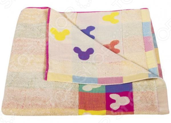 Полотенце махровое Dream Time «Микки Маус». Цвет: желтый