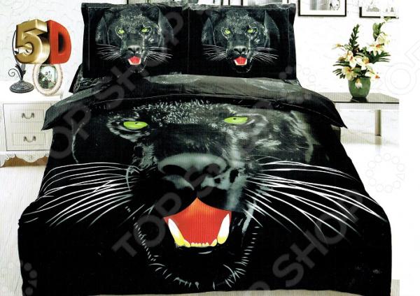 Фото - Комплект постельного белья «Дикая кошка». Евро постельное белье этель кружева комплект 2 спальный поплин 2670978