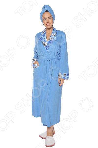 Халат Алтекс «Махровое чудо». Цвет: голубой